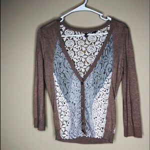 Buckle Boutique multi lace cardigan small